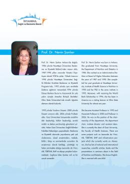 Prof. Dr. Nevin Şanlıer - İstanbul Sağlık ve Beslenme Bienali