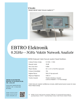 0.2GHz - 3GHz Vektör Network Analizör