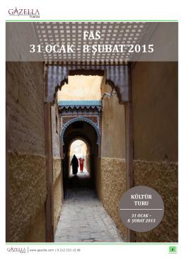 FAS 31 OCAK - 8 ŞUBAT 2015