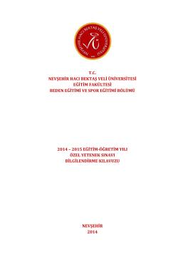 bese-sinav-kilavuzu_2014-2015 - Nevşehir Hacı Bektaş Veli