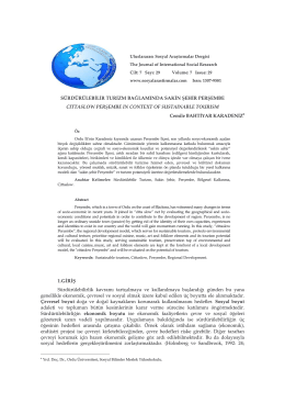 Sakin Şehir Perşembe - Journal of International Social Research