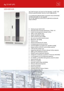 Ag Power 33 UPS - agplus.com.tr