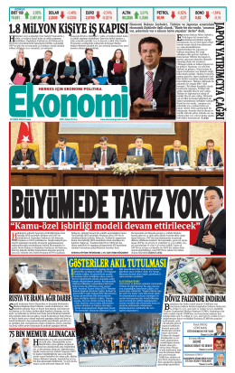 10 EKİM 2014 - Ekonomi Gazetesi