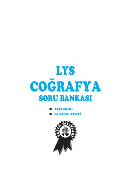 lys cografya sb - Zafer Yayınları