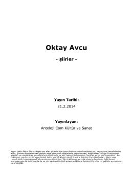 Oktay Avcu - Antoloji.Com