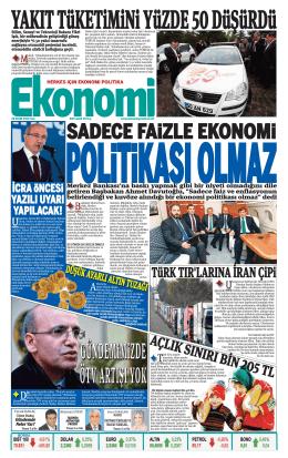 28 EKİM 2014 - Ekonomi Gazetesi