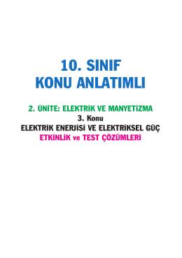elektrik enerjisi ve elekriksel güç
