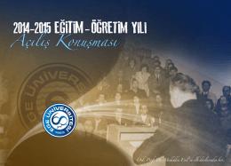 2014 - 2015 Eğitim - Öğretim Yılı - EÜ Ege-book