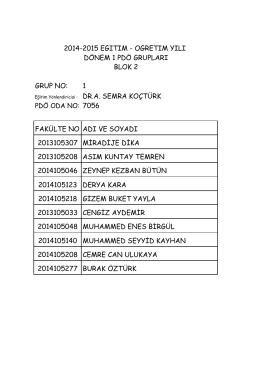 blok 2 pdö liste