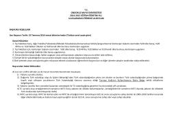 tc ondokuz mayıs üniversitesi 2014-2015 eğitim