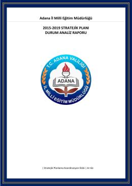 Adana İl Milli Eğitim Müdürlüğü 2015