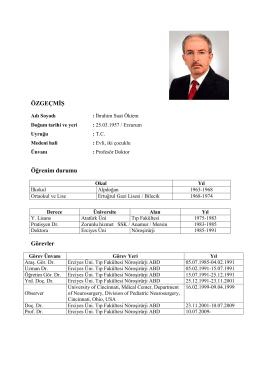 Prof. Dr. İbrahim Suat Öktem