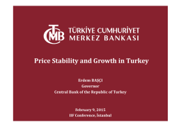 Price Stability and Growth in Turkey