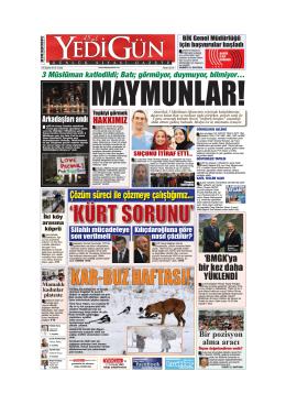 MAYMUNLAR! - Yedigün Gazetesi
