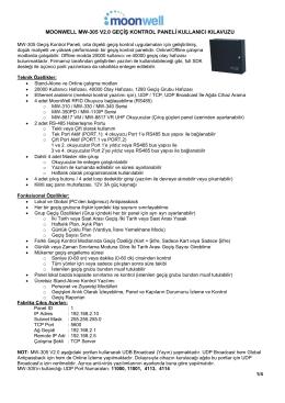 MoonWell MW-305 Geçiş Kontrol Paneli V2.0