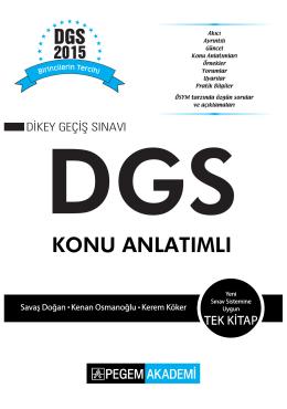 DGS Konu Anlatımlı 2015