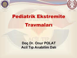 Pediatrik Travmalara Yaklaşım