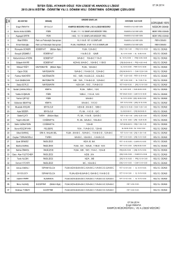 istek özel atanur oğuz fen lisesi ve anadolu lisesi 2013
