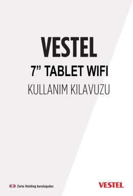 """7"""" tablet wıfı - Vestel Driver Web Sitesi"""