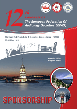 here - 12th Congress of The European Federation of Audiology