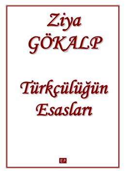 ziya gökalp – türkçülüğün esasları pdf
