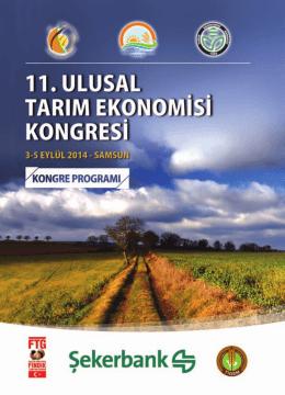 Poster Programı - XI Ulusal Tarım Ekonomisi Kongresi