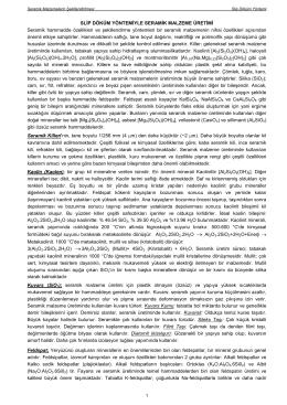 Seramik Slip Döküm - Kocaeli Üniversitesi Metalurji ve Malzeme