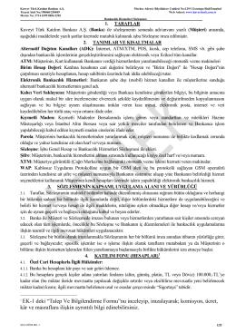 Bankacılık Hizmetleri Sözleşmesi - Kuveyt Türk Katılım Bankası A.Ş.