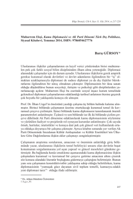 Kamu Diplomasisi ve Ak Parti Dönemi Türk Dış Politikası / Muharrem