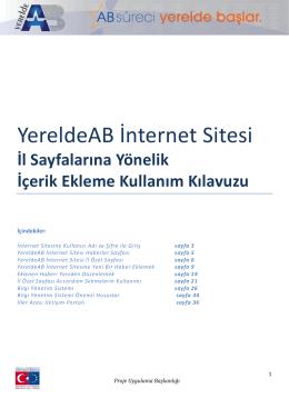 Yerelde AB Internet Sitesi Rehberi