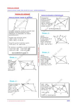 PARALELKENAR - 11.sınıf mat çözüm videoları