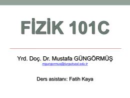 FİZ 103C 6. hafta 1
