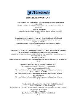 içindekiler / contents - The Journal of Academic Social Science