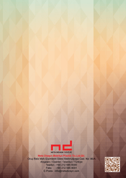 E-Katalog - Neta Dizayn Mobilya Plastik Tic.Ltd.Şti.