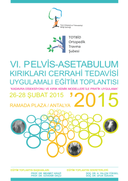 VI. PELVİS-ASETABULUM - TOTBİD | Türk Ortopedi ve Travmatoloji