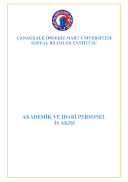 ÇOMÜ Sosyal Bilimler Enstitüsü Akademik ve İdari Personel İş Akış