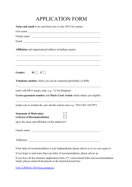 the application form (90 kB)