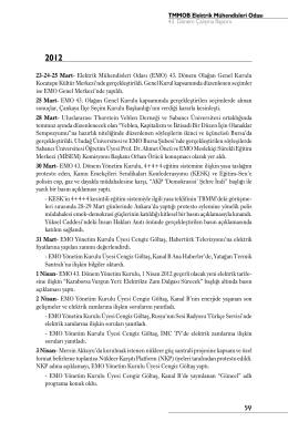 Kronolojik Olarak EMO Çalışmaları