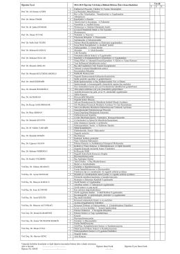 2014-2015 Öğretim Yılı Bitirme Ödevi