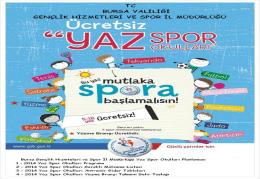 2014 Yaz Spor Okulları - Bursa Gençlik ve Spor İl Müdürlüğü