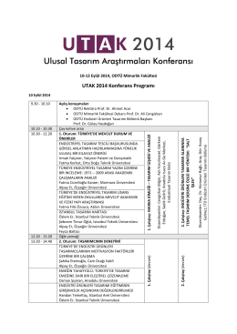 UTAK 2014 Konferans Programı