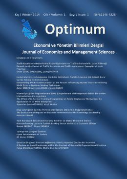Kapak ve Ön Sayfalar - Optimum Dergi