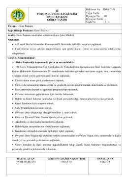 Revizyon No - İstanbul Üniversitesi | Personel Daire Başkanlığı