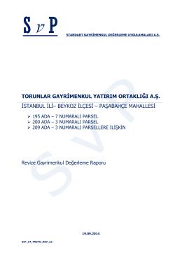 Paşabahçe Arsa revize değerleme raporu