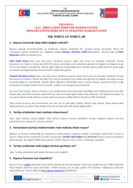 ka1 - mesleki eğitim öğrenme hareketliliği (sss)