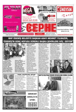 27.03.2014 Tarihli Cephe Gazetesi