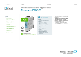 Nivotester FTW325 (PDF 1,94 MB) - E-direct