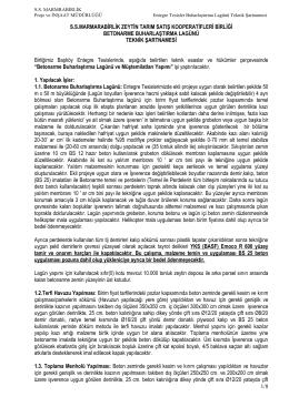 1/8 ssmarmarabirlik zeytin tarım satış kooperatifleri birliği betonarme