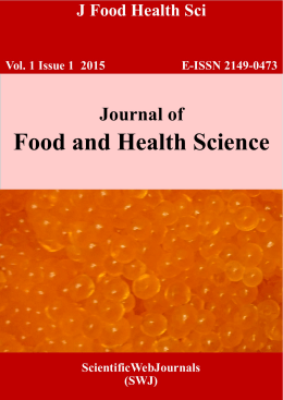 analysis of a food journal