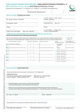İsviçre Üyelik Başvuru Formu Download